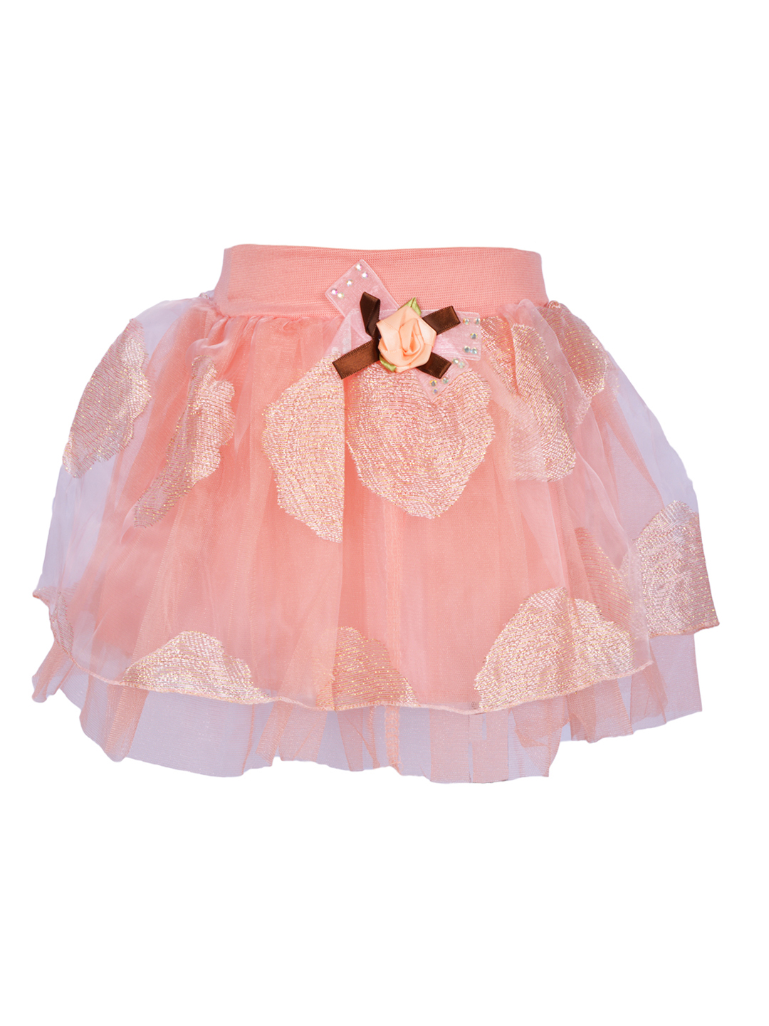 Lil Orchids Girls Pink Layered Skirt