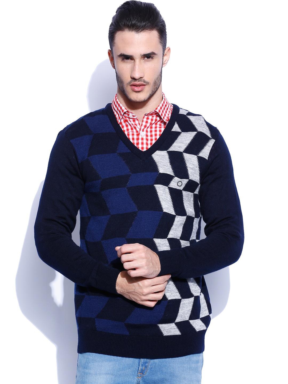 Proline Navy Woollen Sweater