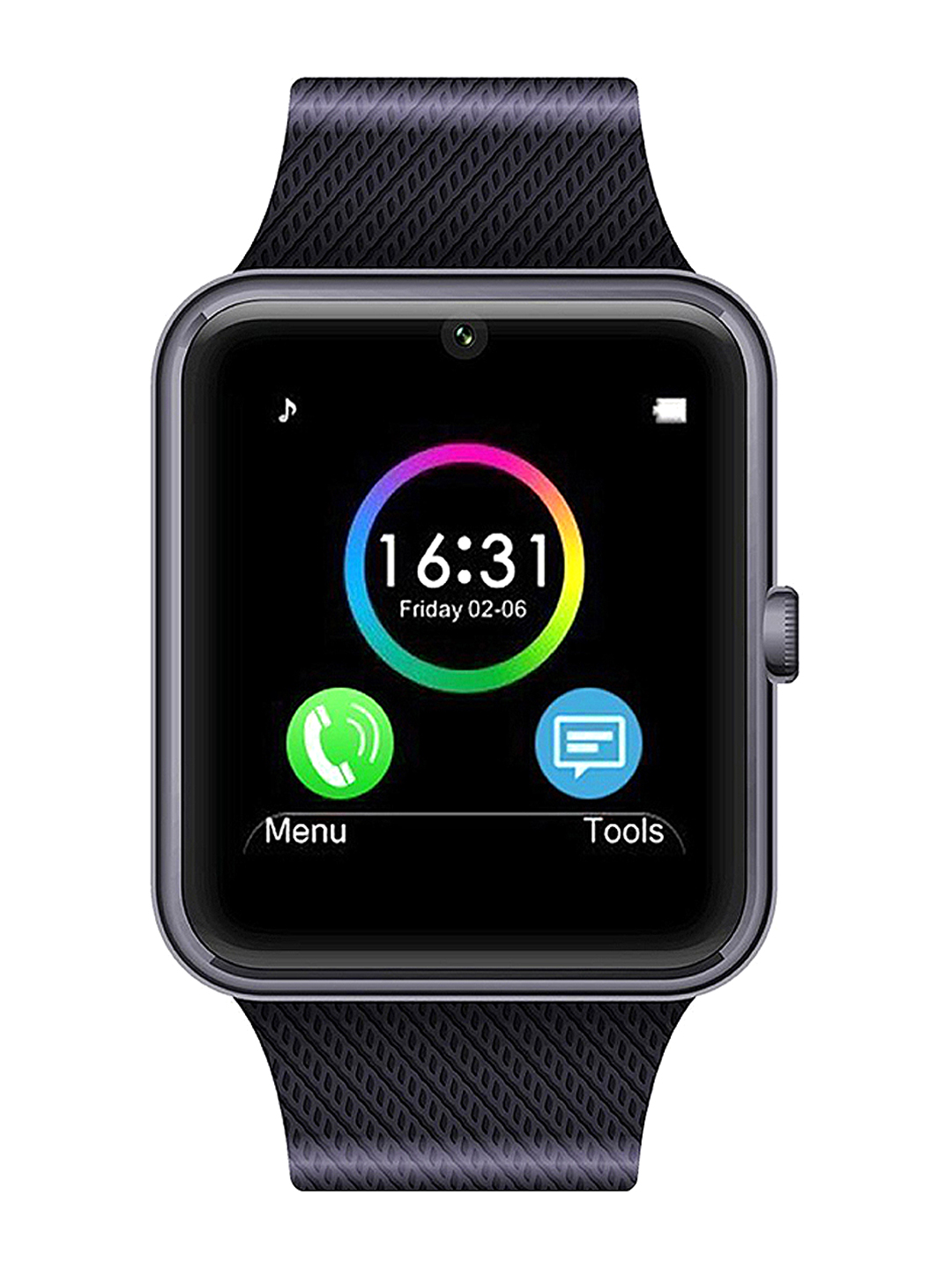 NOISE Unisex Black Bluetooth Smart Watch GT 08