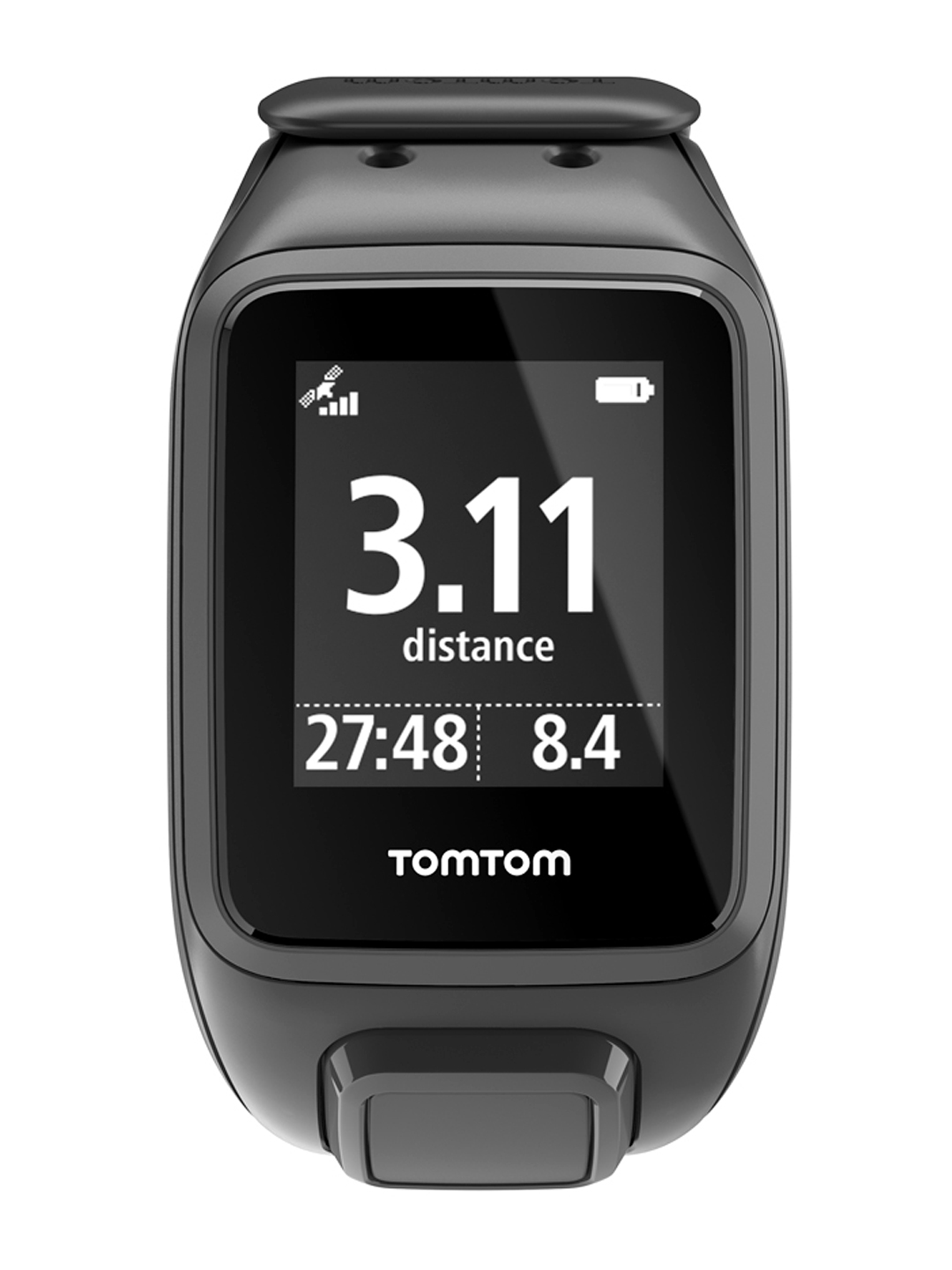 TomTom Spark Unisex Black Cardio GPS Fitness Smart Watch Small