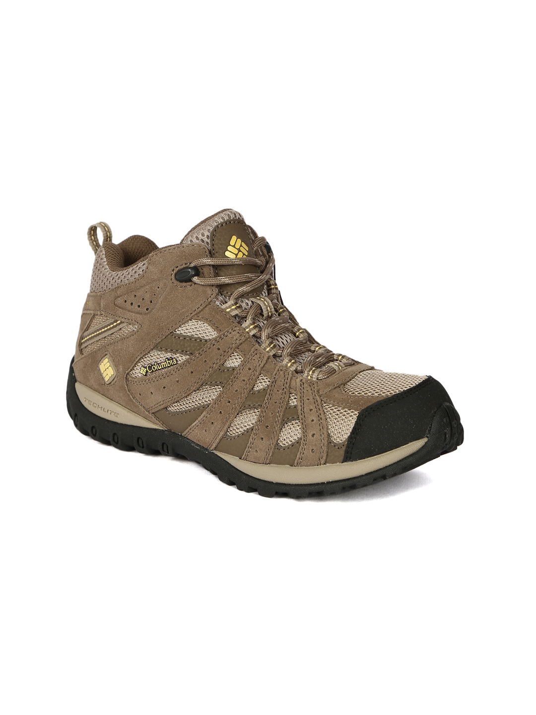 Columbia Women Beige Redmond Waterproof Mid-Top Trekking Shoes