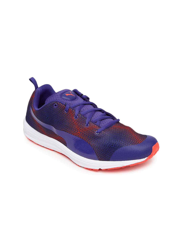 PUMA Women Blue & Orange Evader XT V2 Graphic Running Shoes
