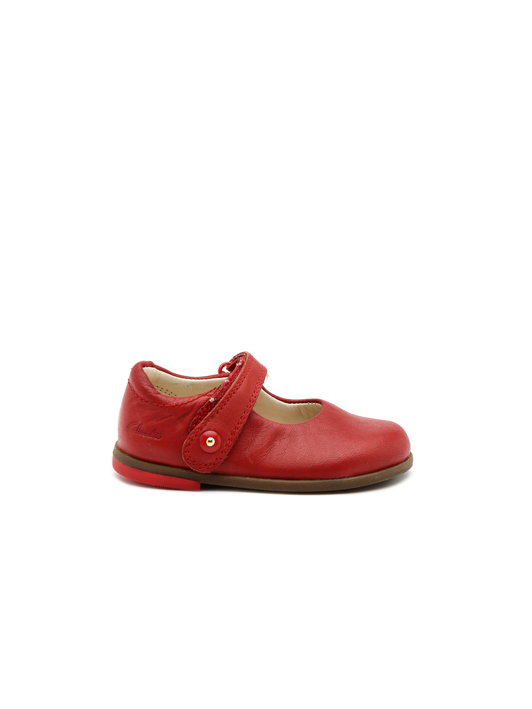 Clarks Girls Red Bonnie Boo Fst Leather Mary Janes