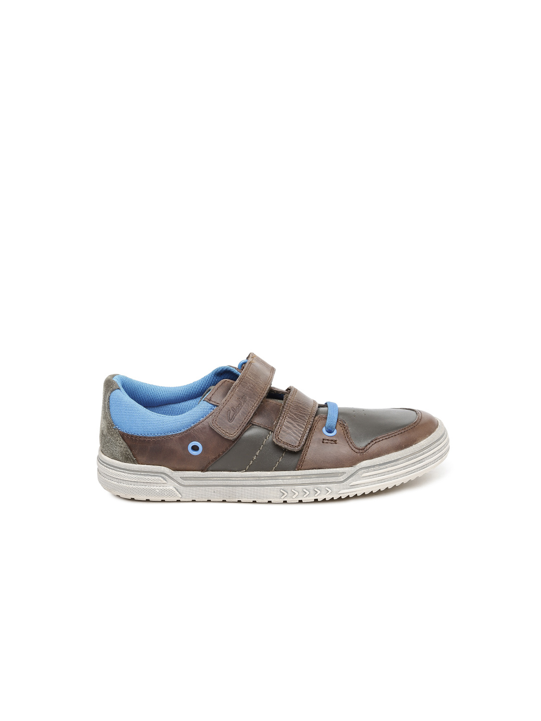 Clarks Boys Brown Chad Skate Leather Sneakers