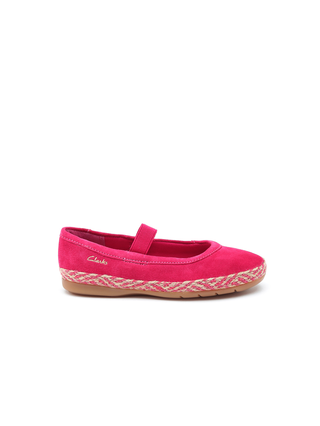 Clarks Girls Pink Flat Shoes