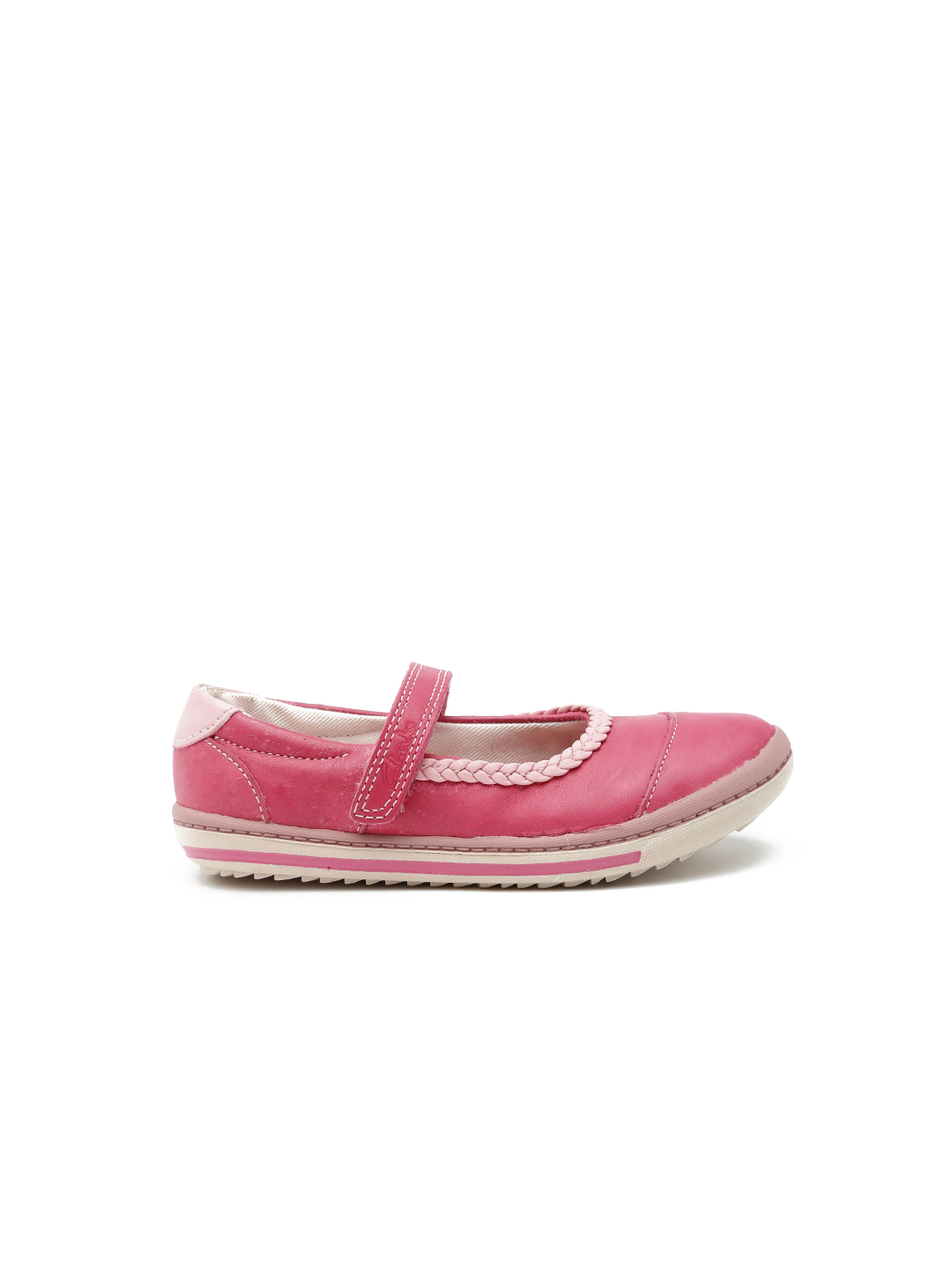 Clarks Girls Pink Leather Mary Janes