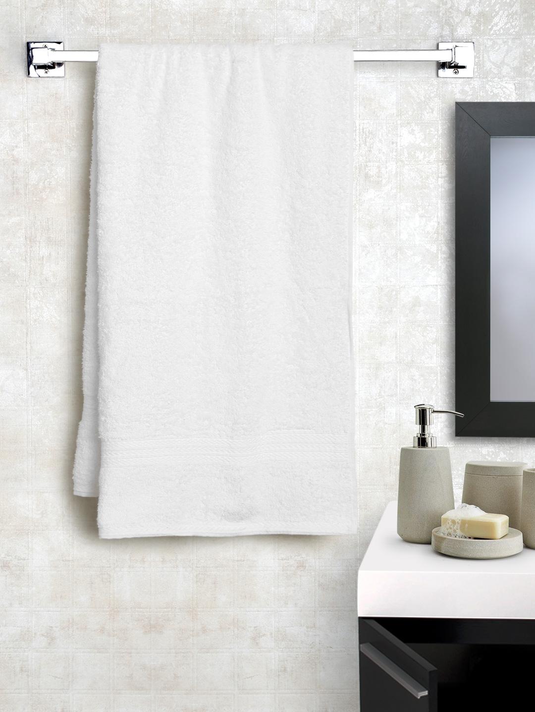 BOMBAY DYEING White Cotton 450 GSM Bath Towel