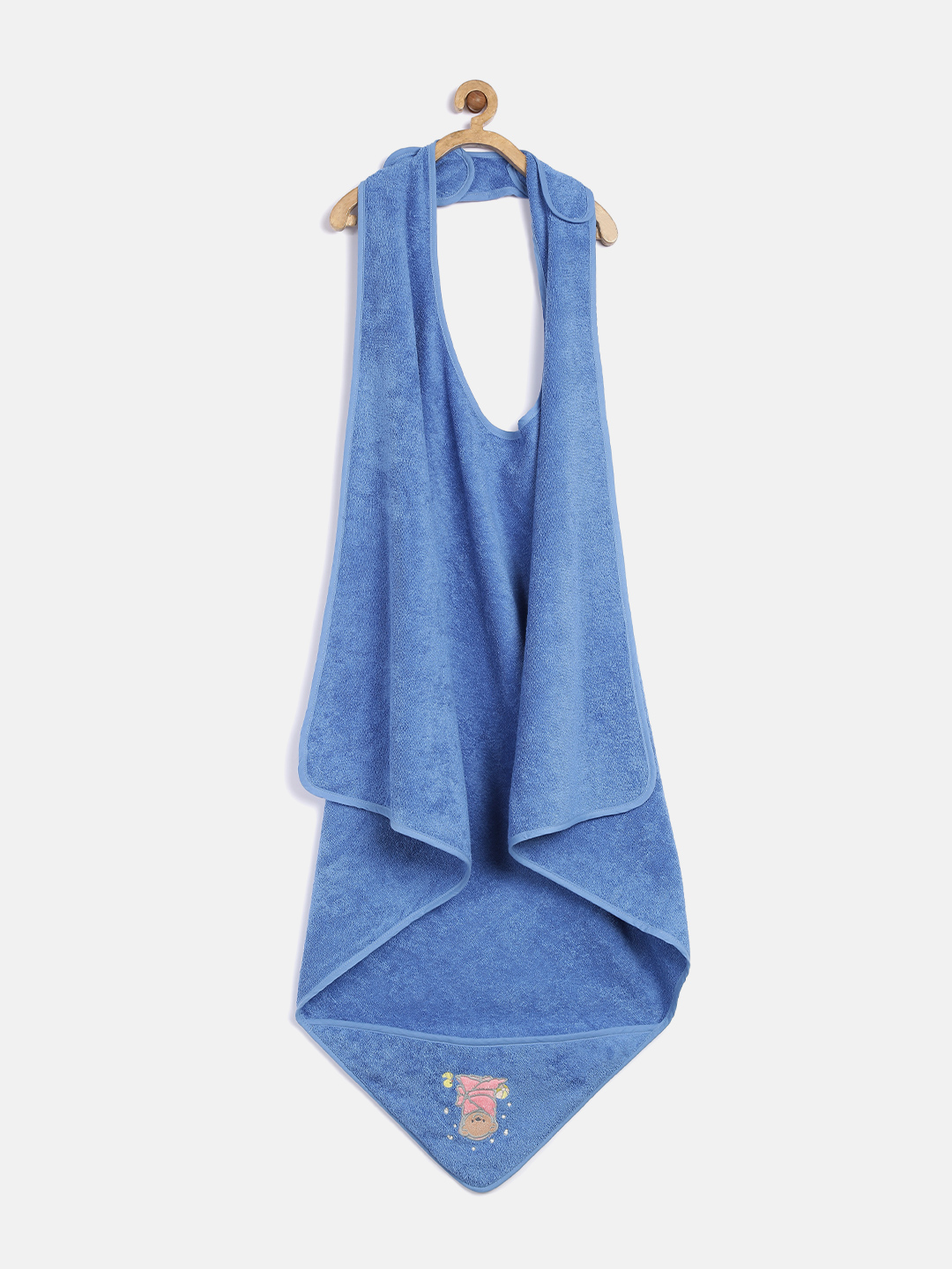 Trident Cuddlies Blue Hooded 500 GSM Cotton Bath Apron