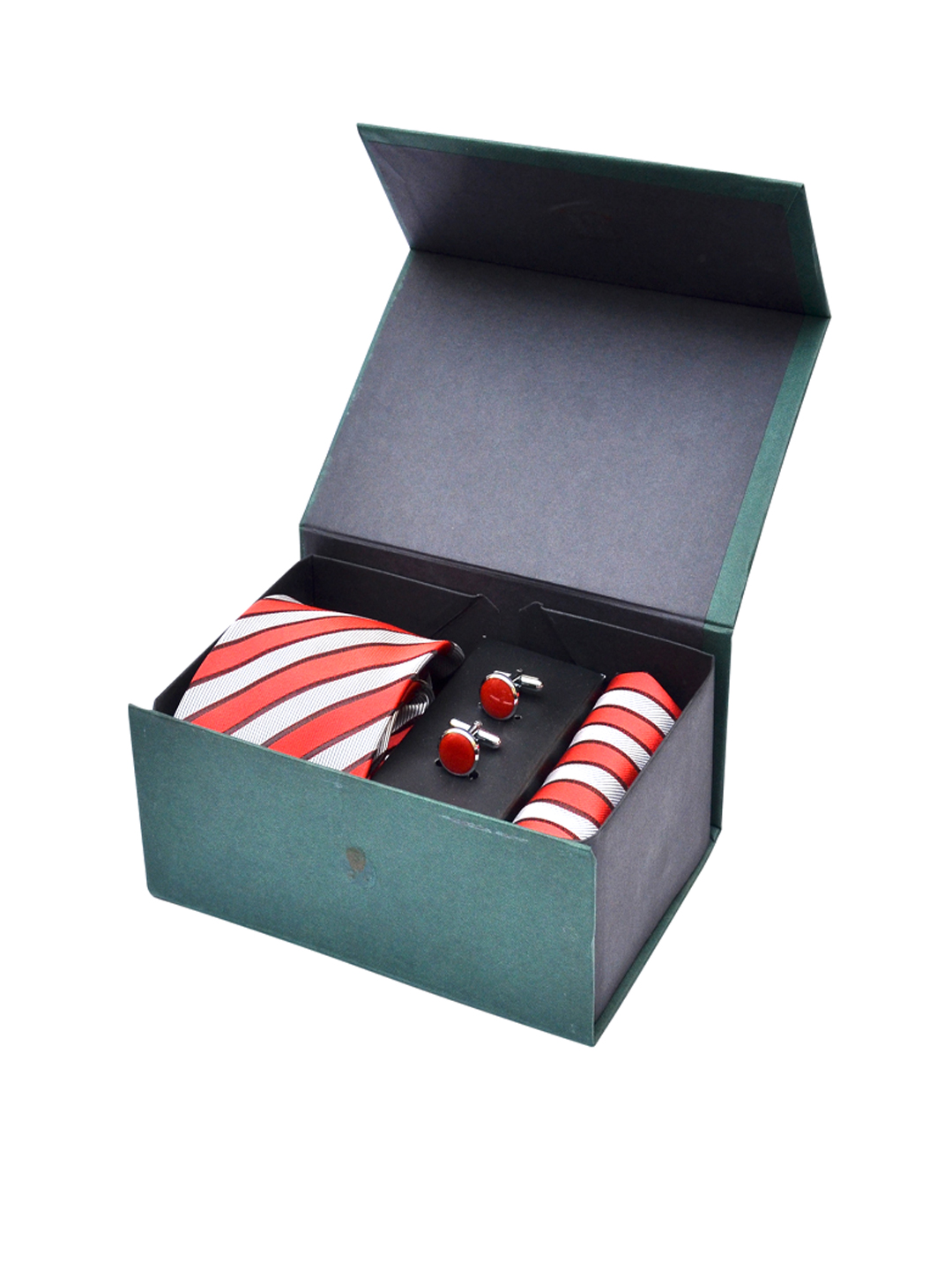 Calvadoss Men Red Accessory Gift Set