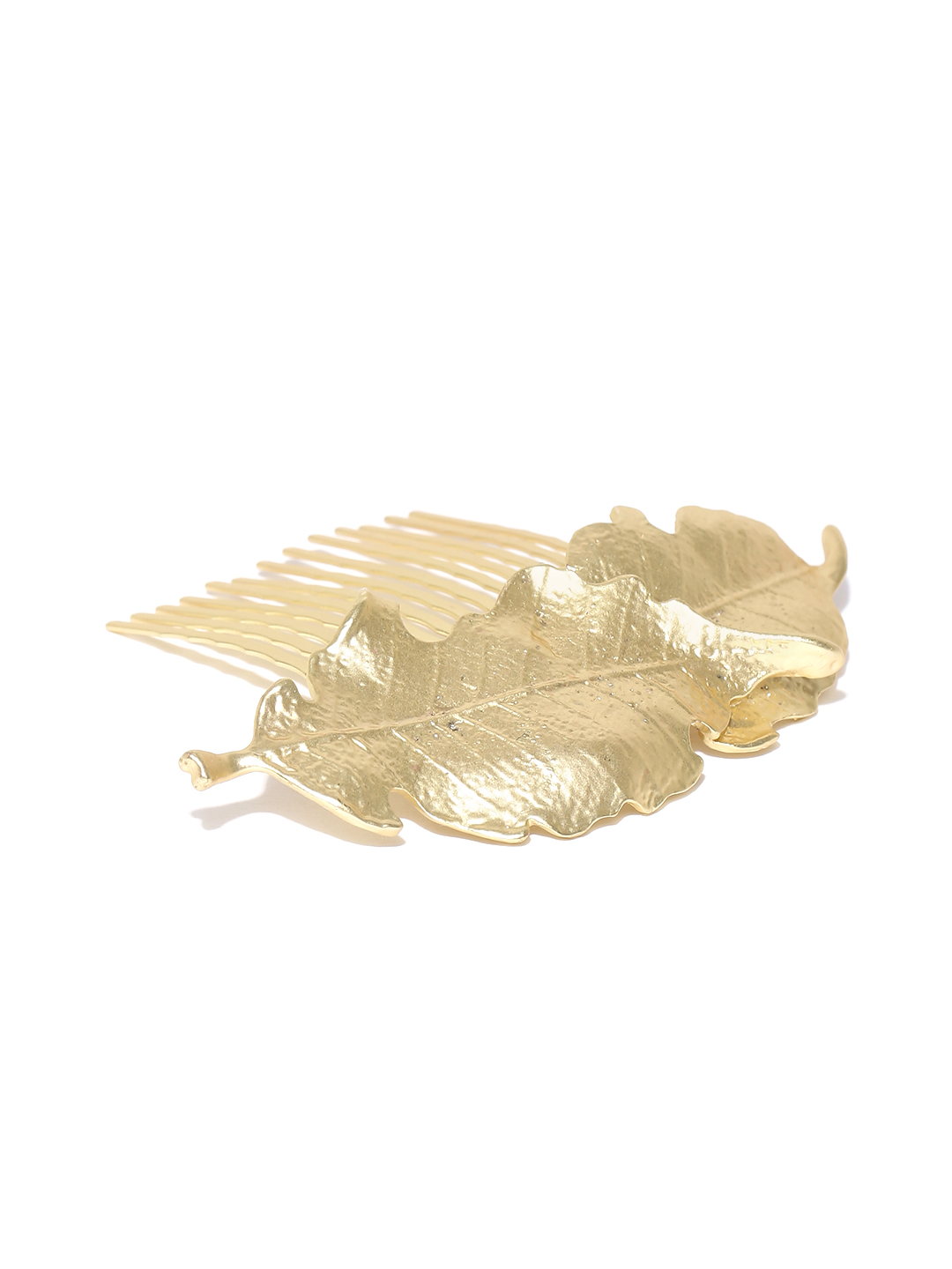 Blueberry Gold-Toned Leaf-Shaped Hair Ornament