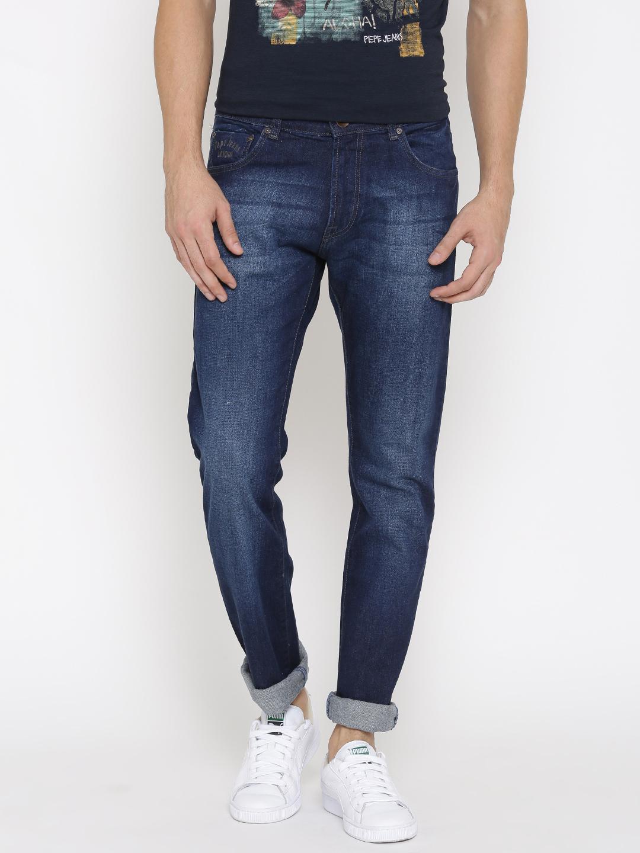 Pepe Jeans Men Blue Vapour Slim Fit Jeans