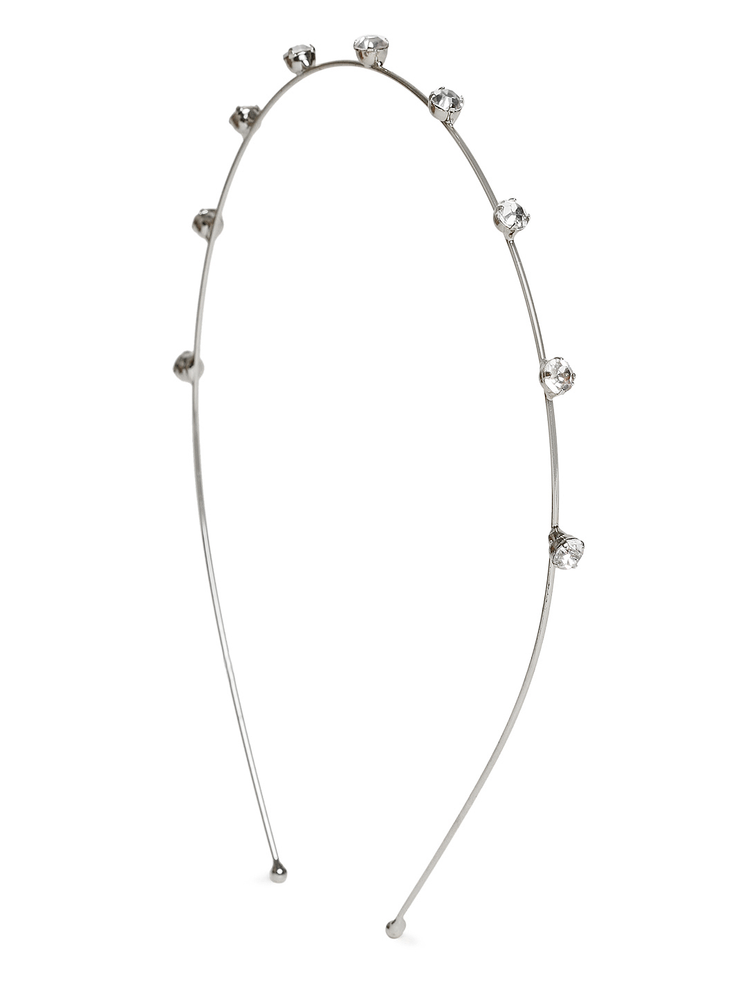 ToniQ Silver-Toned Stone-Studded Hairband
