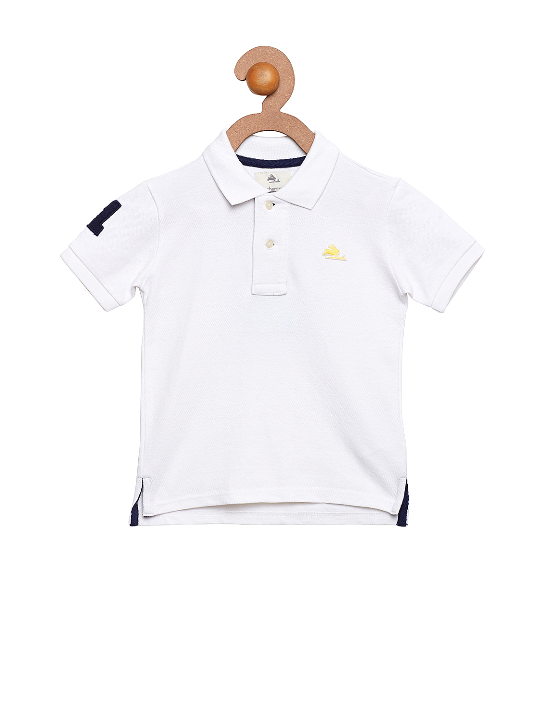 Cherry Crumble Boys White Solid T-shirt