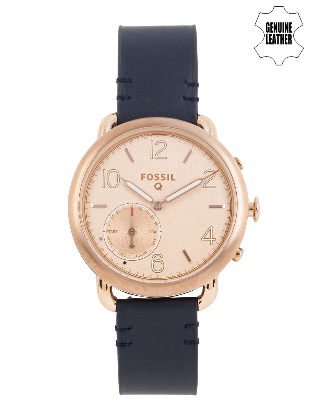 Fossils Women Rose Gold-Toned Hybrid Smart Watch FTW1128
