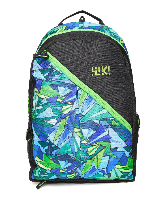 Wildcraft Unisex Green & Black Volcano Graphic Print Backpack