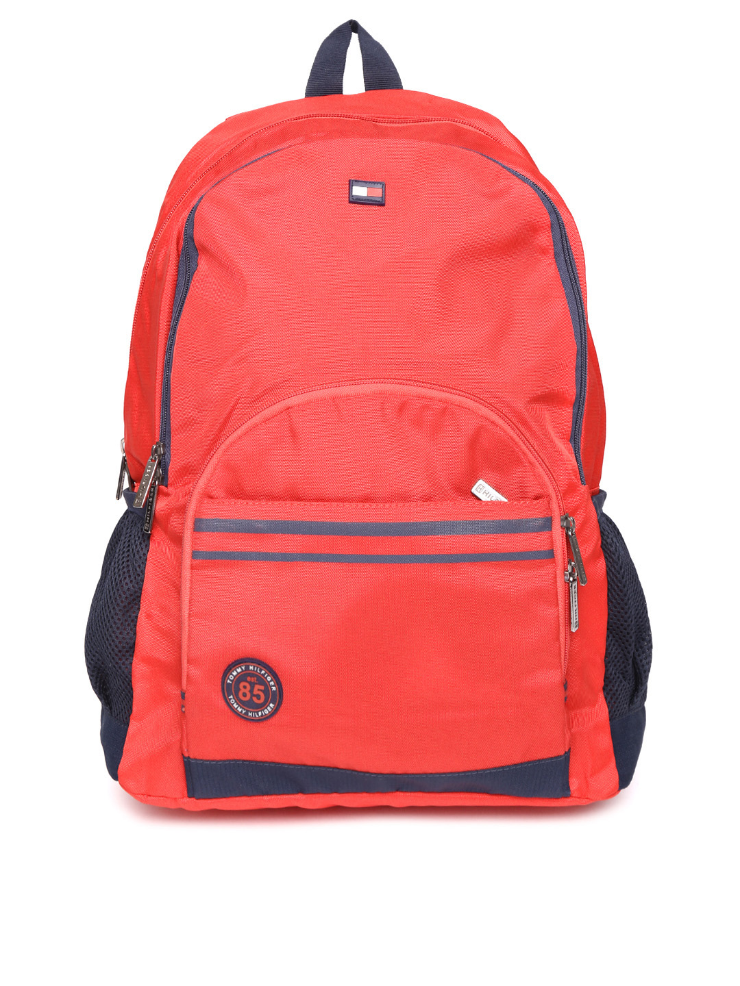 Tommy Hilfiger Unisex Red Solid Backpack