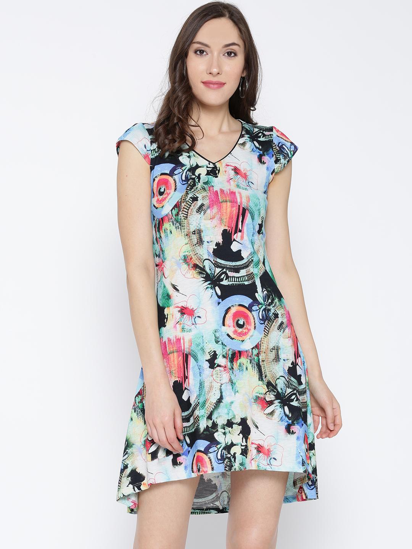Biba Women Multicoloured Printed A-Line Dress