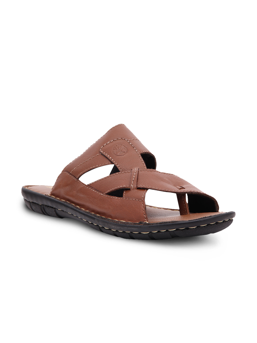 Ventoland Men Tan Brown Leather Sandals