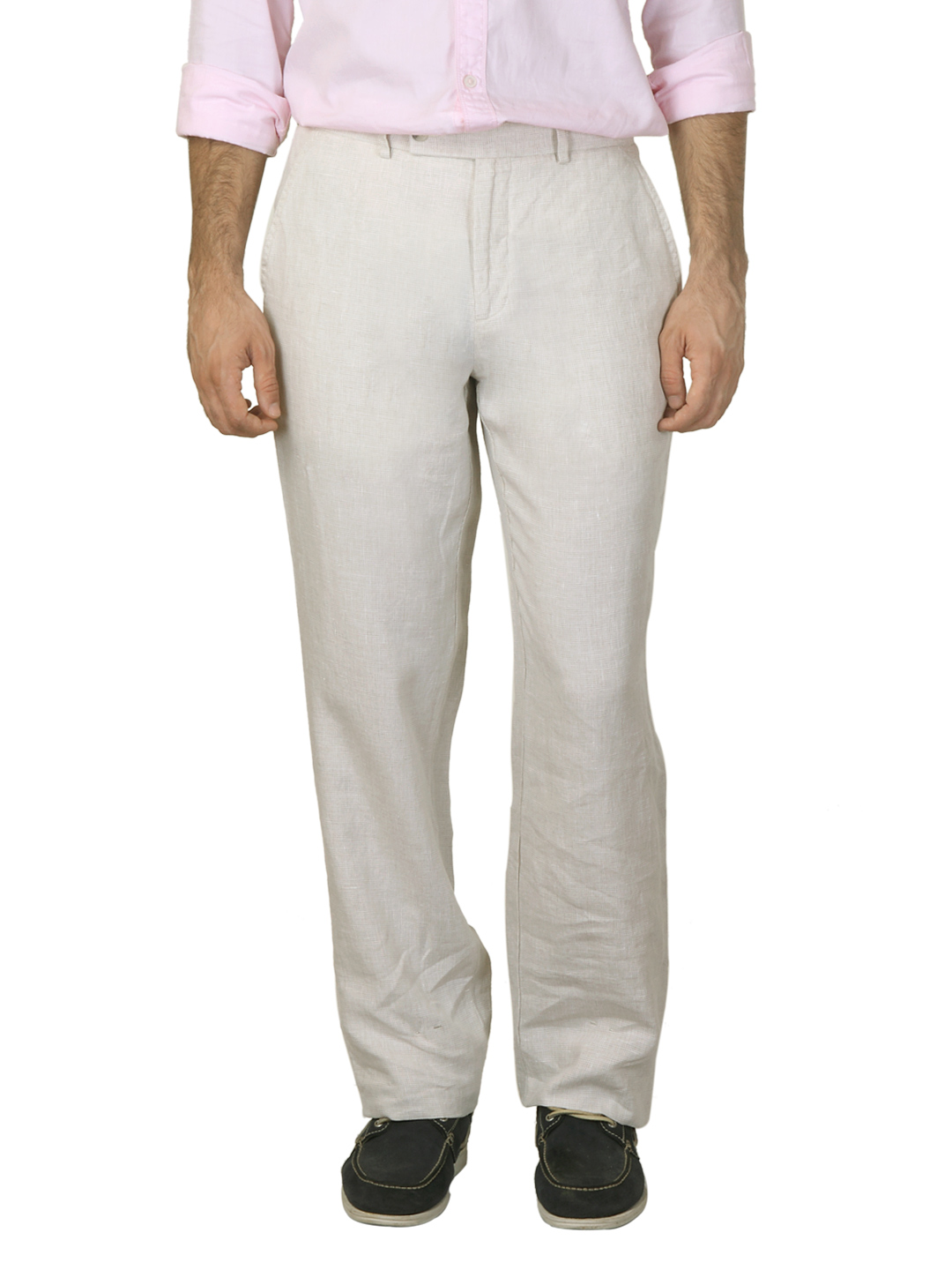 Scullers Men Beige Trousers