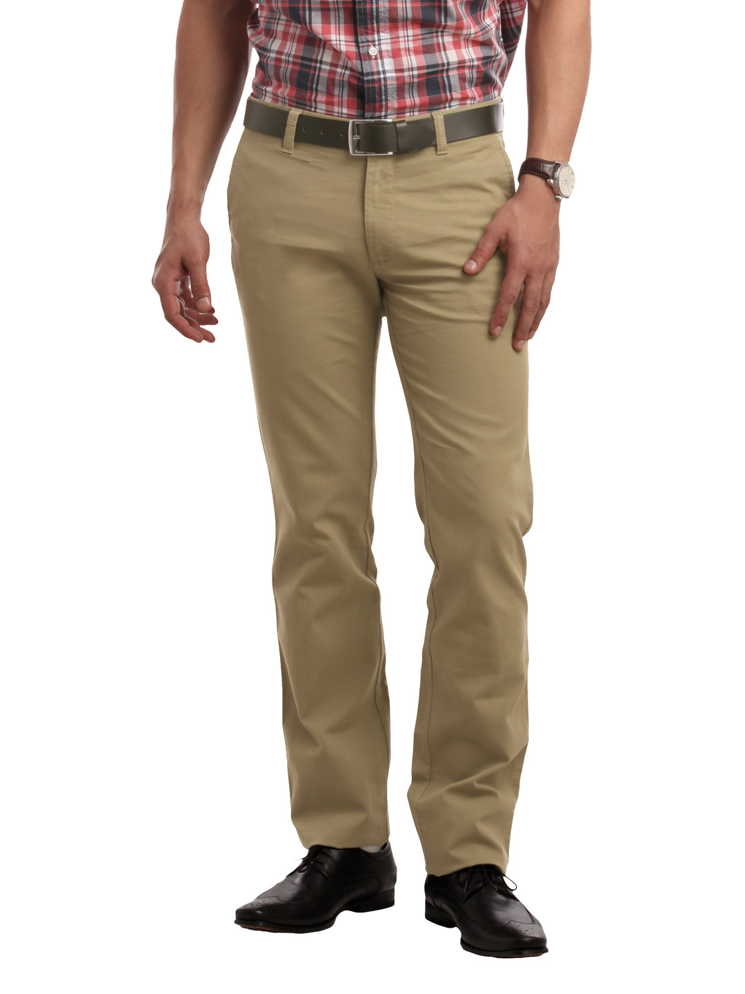 Indian Terrain Men Beige Trousers
