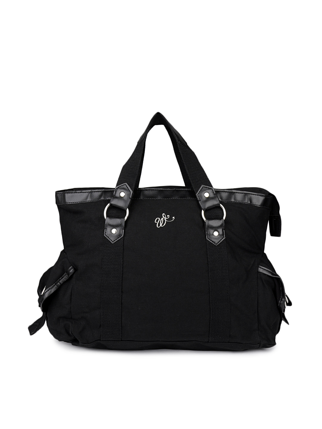 Wrangler Women Black Canvas Handbag