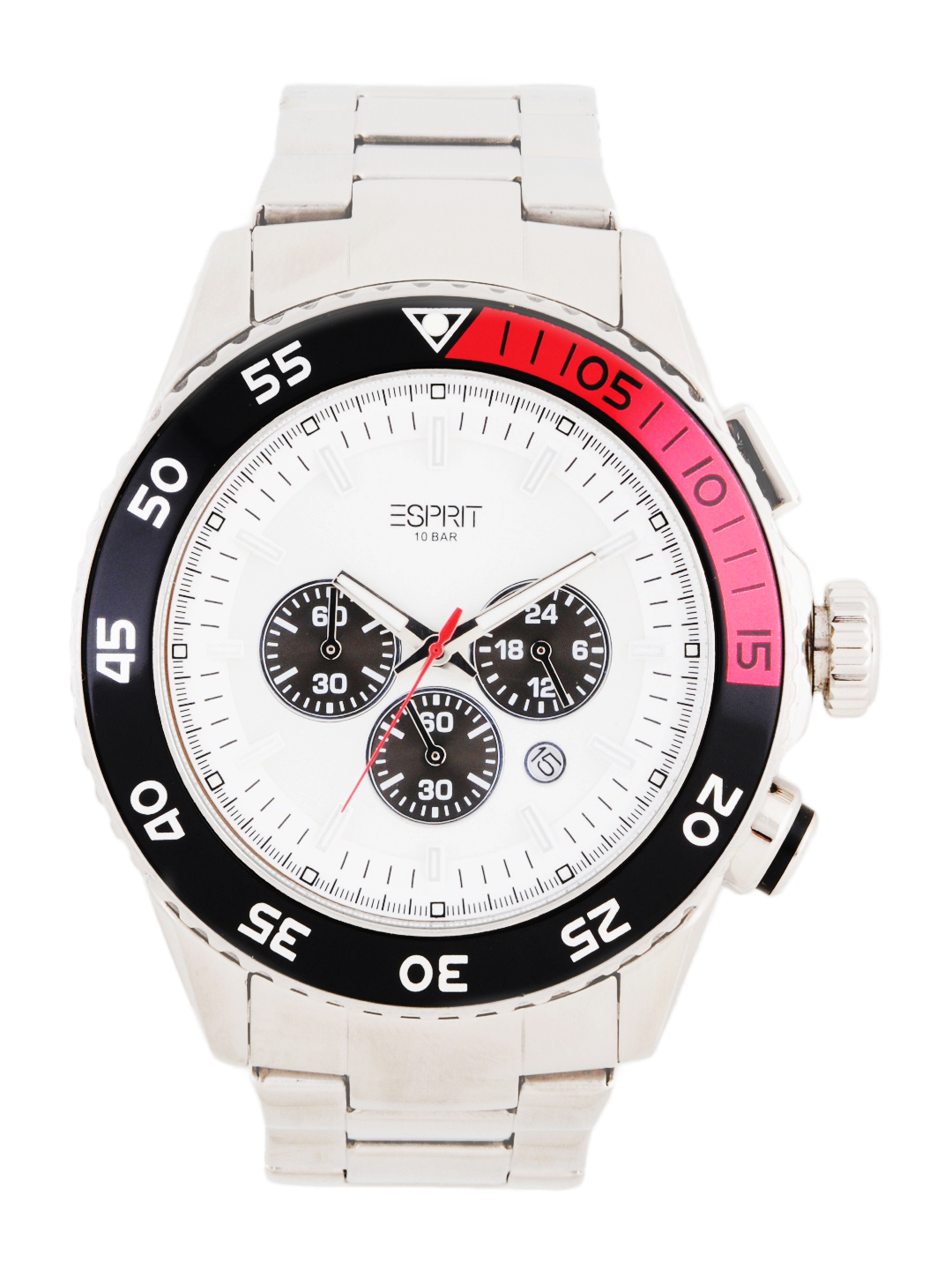 Esprit Men White Dial Chronograph Watch