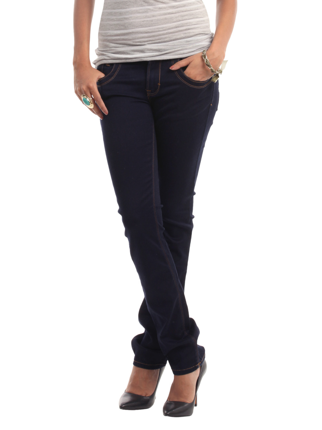 Wrangler Women Navy Blue Jeggings