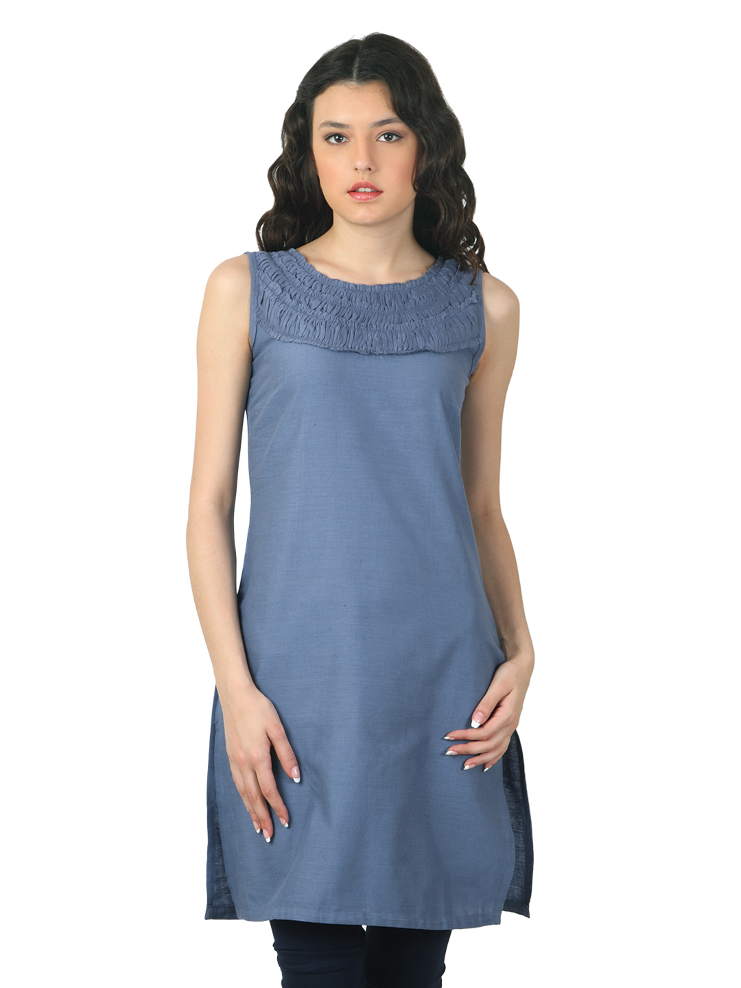 W Women Blue Kurta