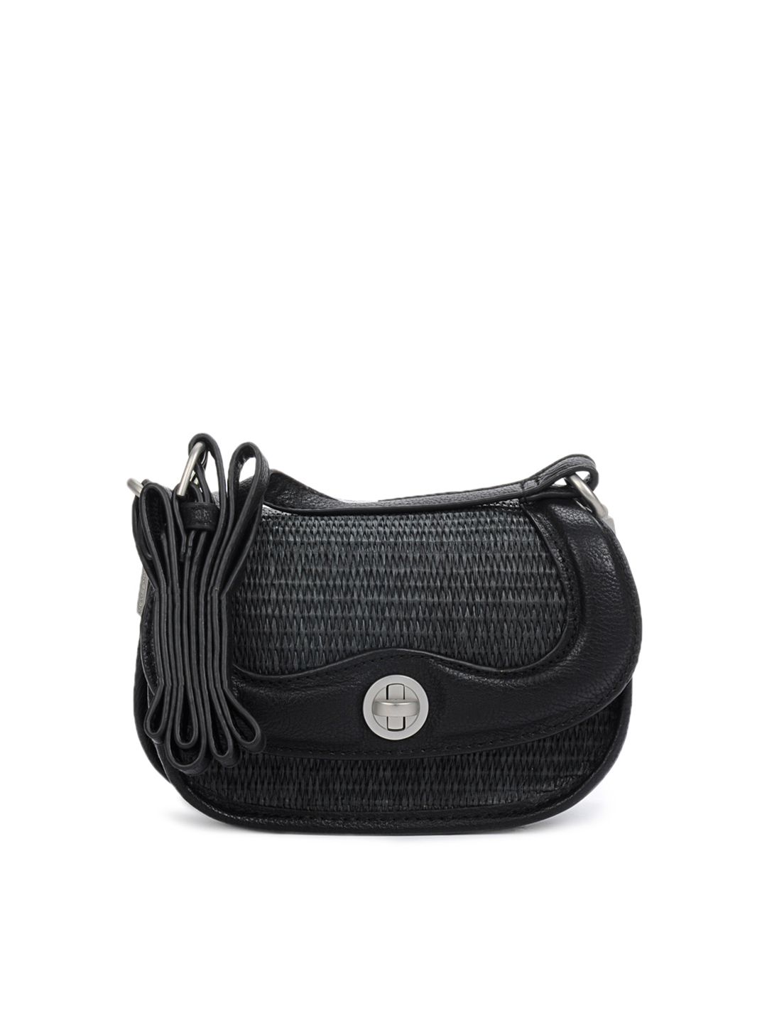 French Connection Women Black Sling Bag
