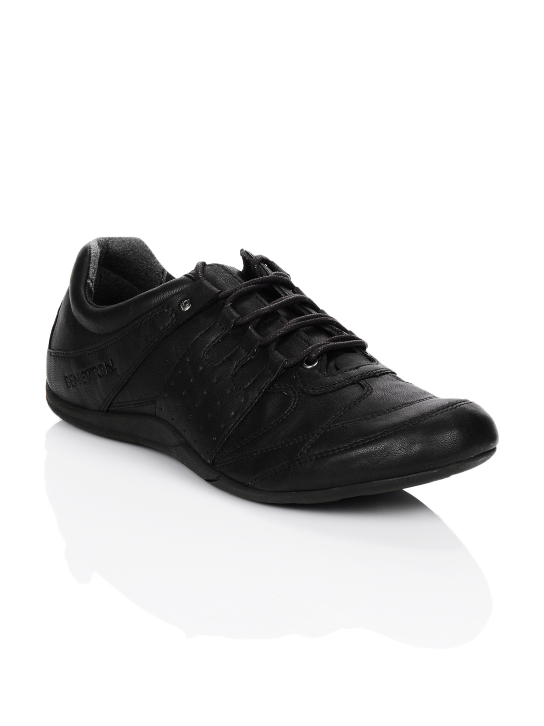 United Colors of Benetton Men Black Shoes