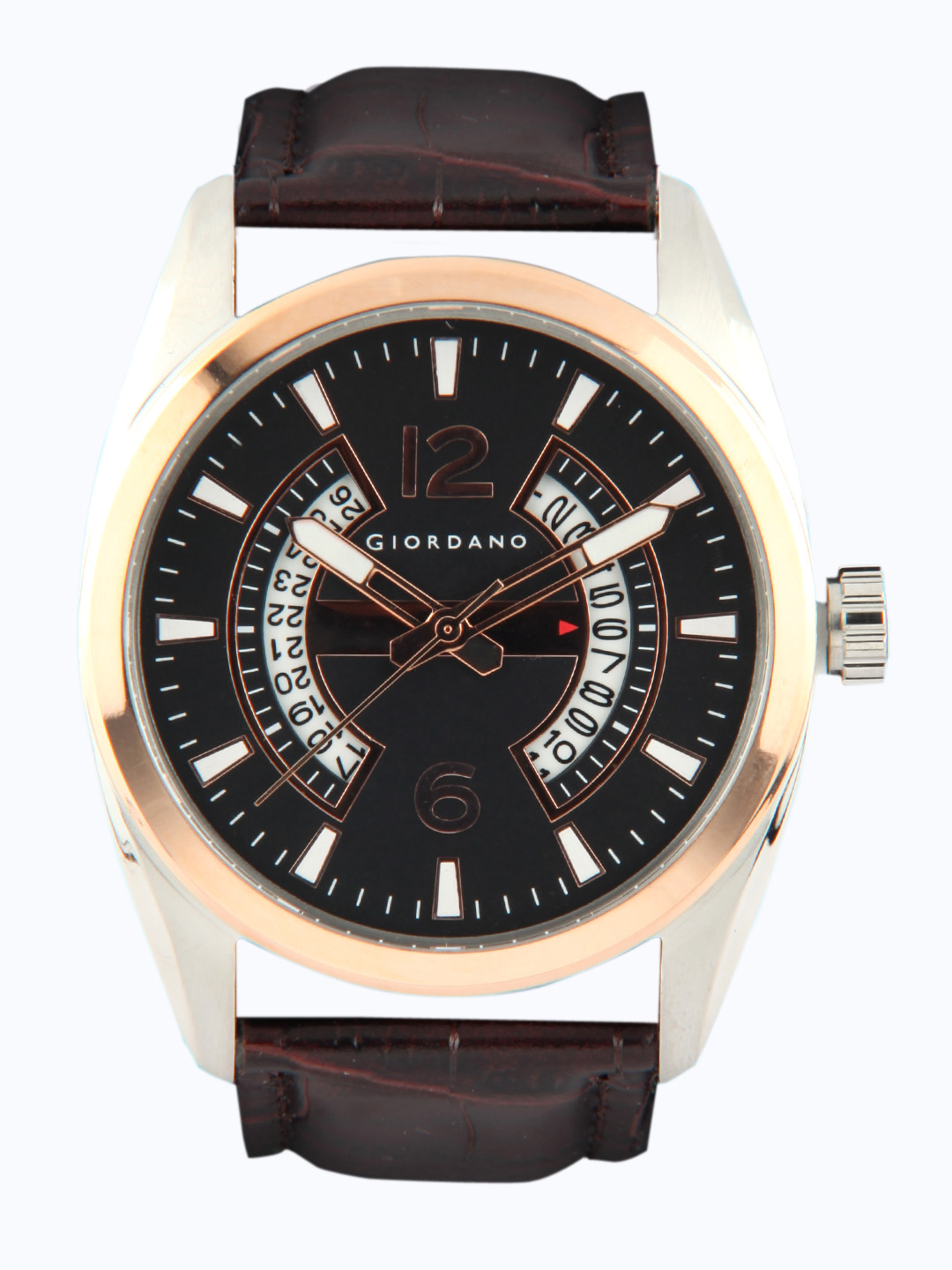 Giordano Men Black Dial Analog Multifunction Watch