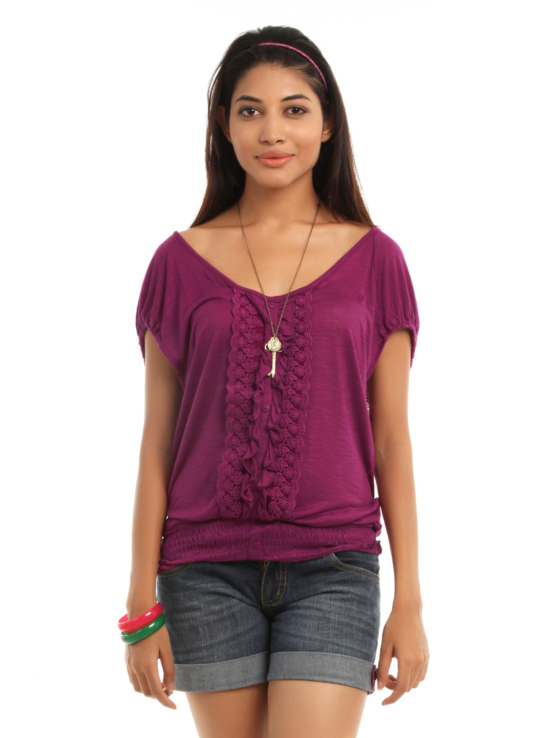 Vero Moda Women Magenta Top