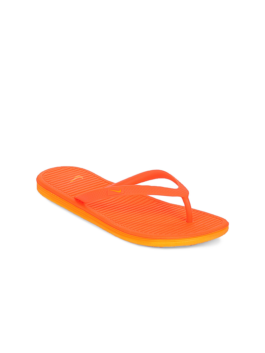 Nike Women Orange Solarsoft Thong Flip Flops