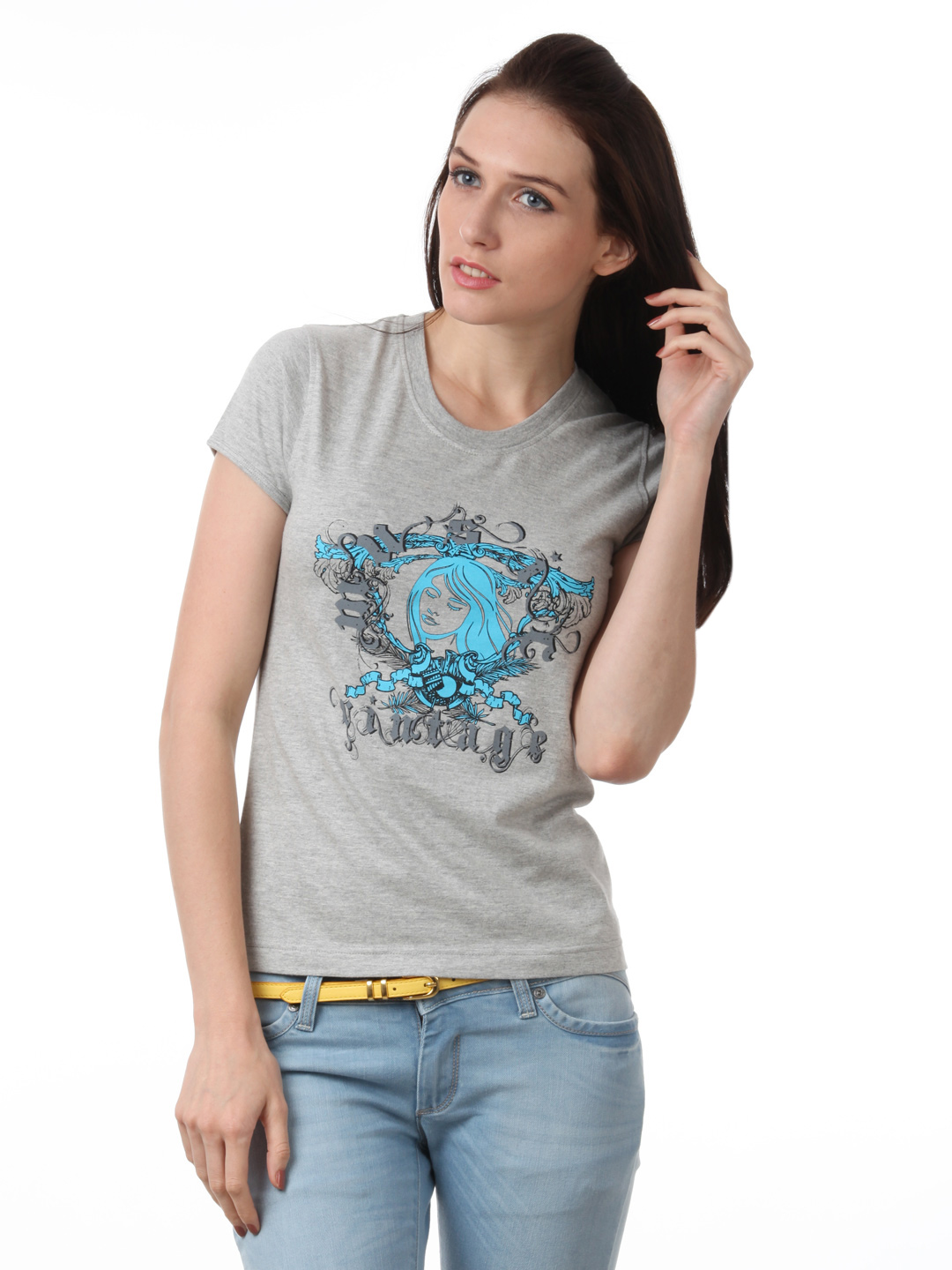 Myntra Women Grey T-shirt