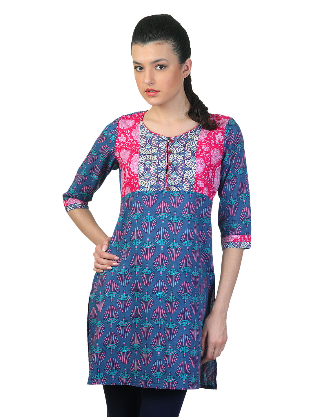 Mother Earth Women Blue Kurta