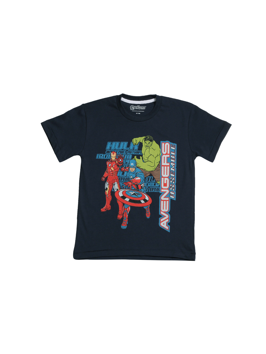 Avengers Boys Navy Blue Printed T-shirt