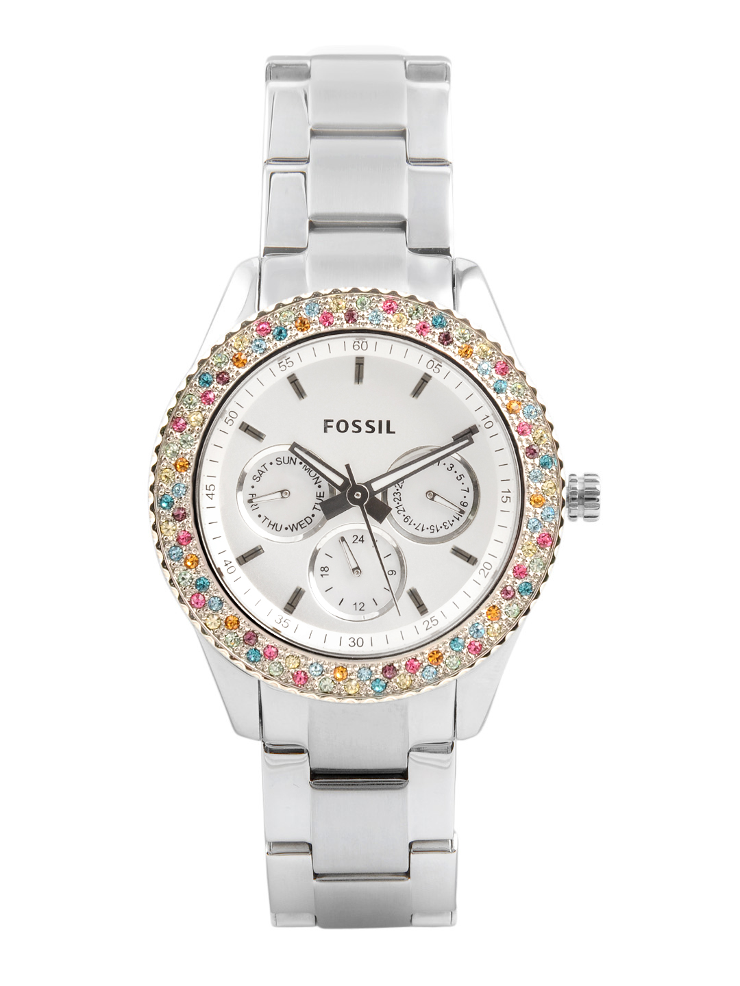Fossil Women White Chronograph Watch