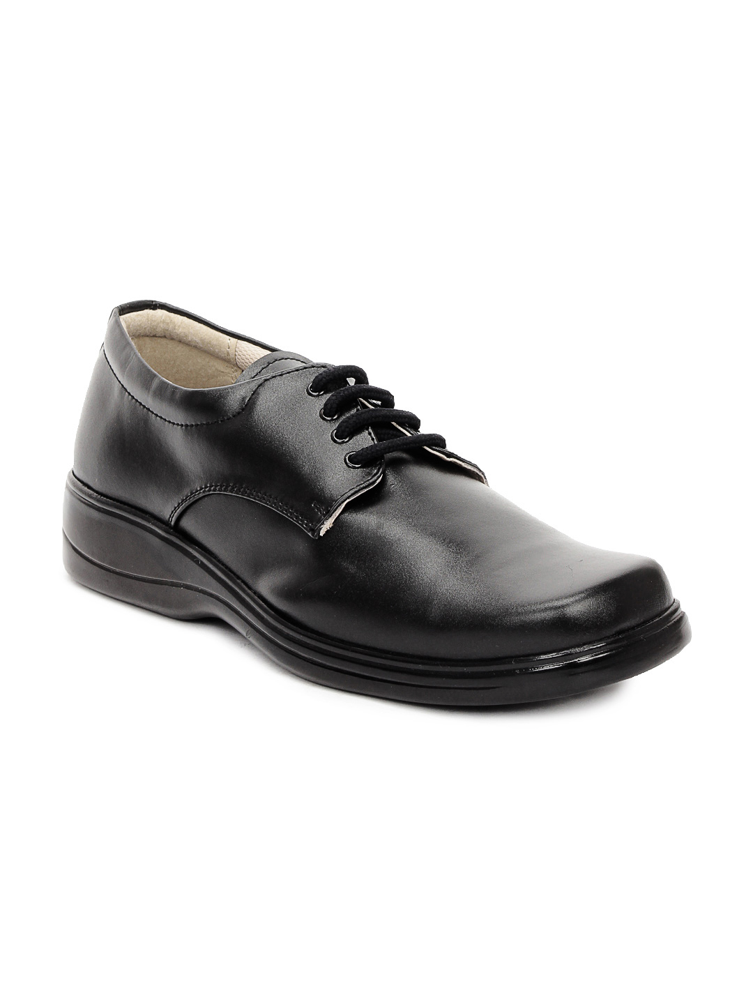 Gliders Men Black Derby Formal Shoes