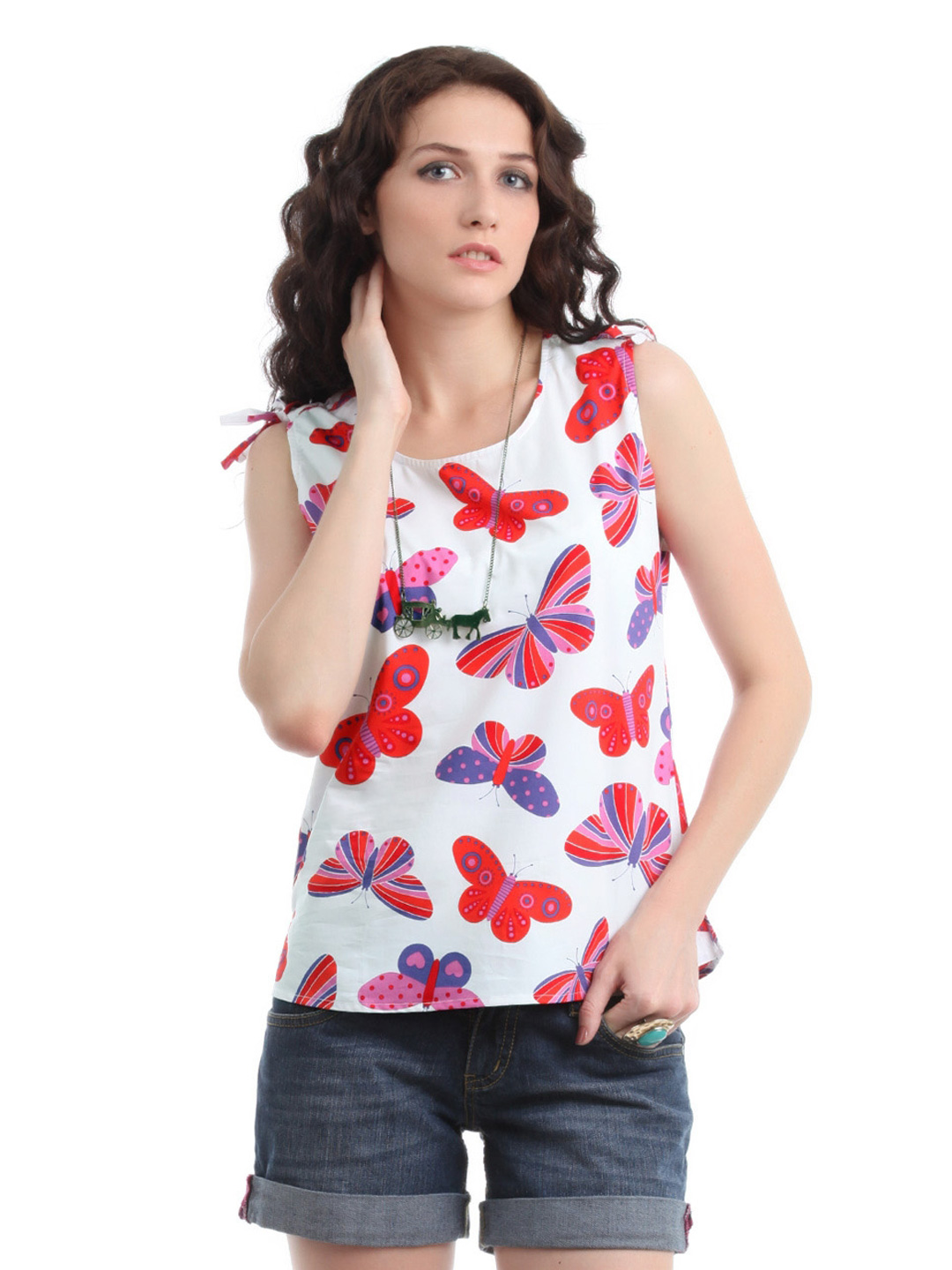 Myntra Women White Printed Top