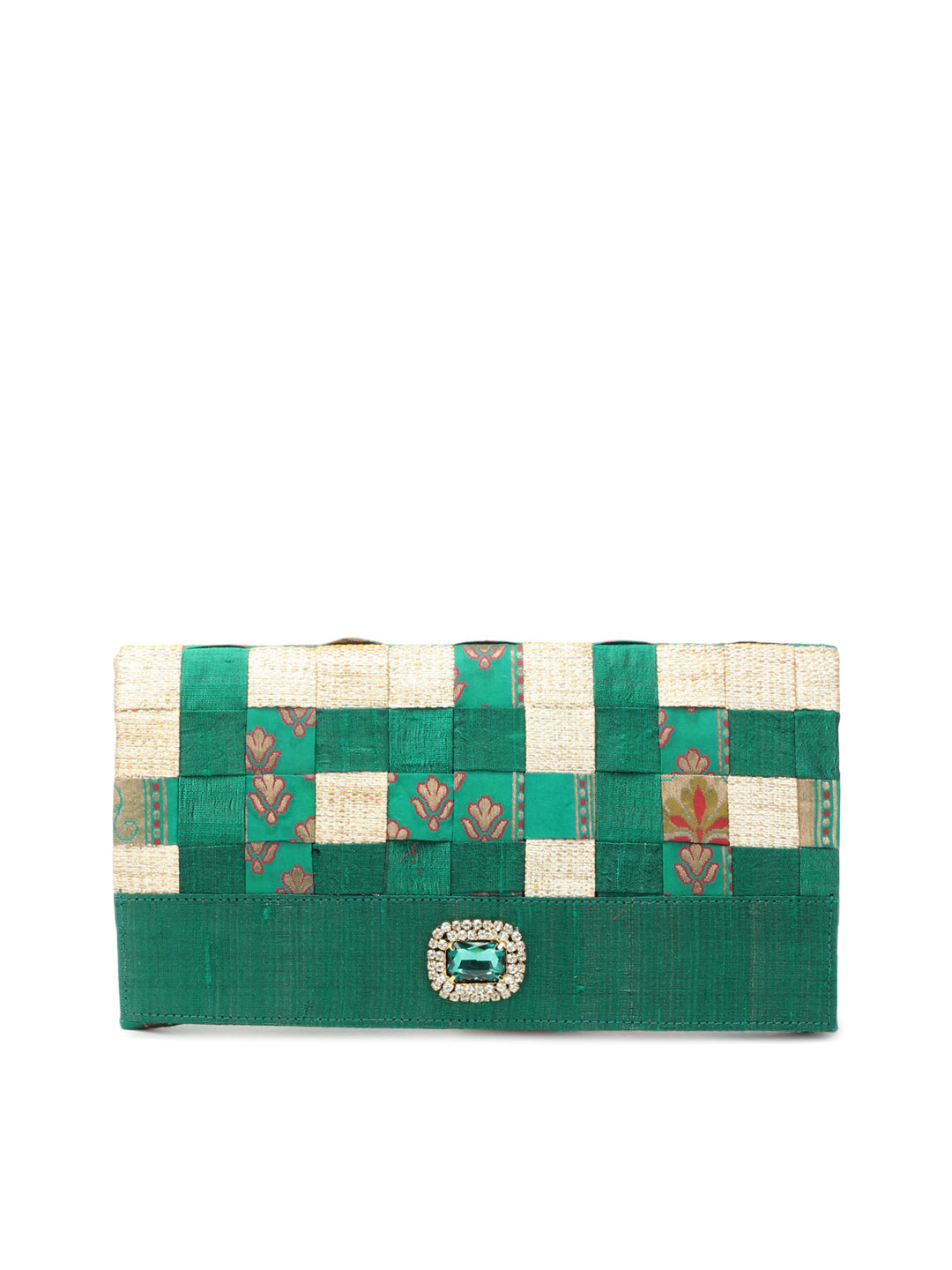 Rocia Women Green Clutch