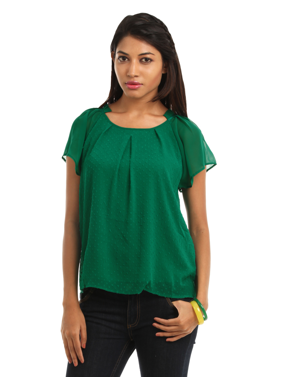 Vero Moda Women Green Top