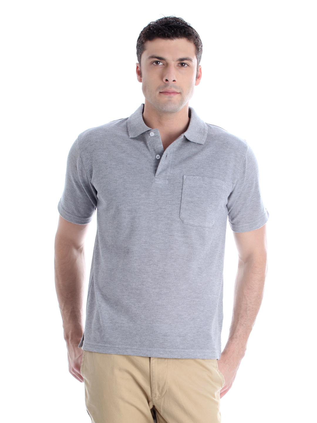 Proline Men Grey T-shirt