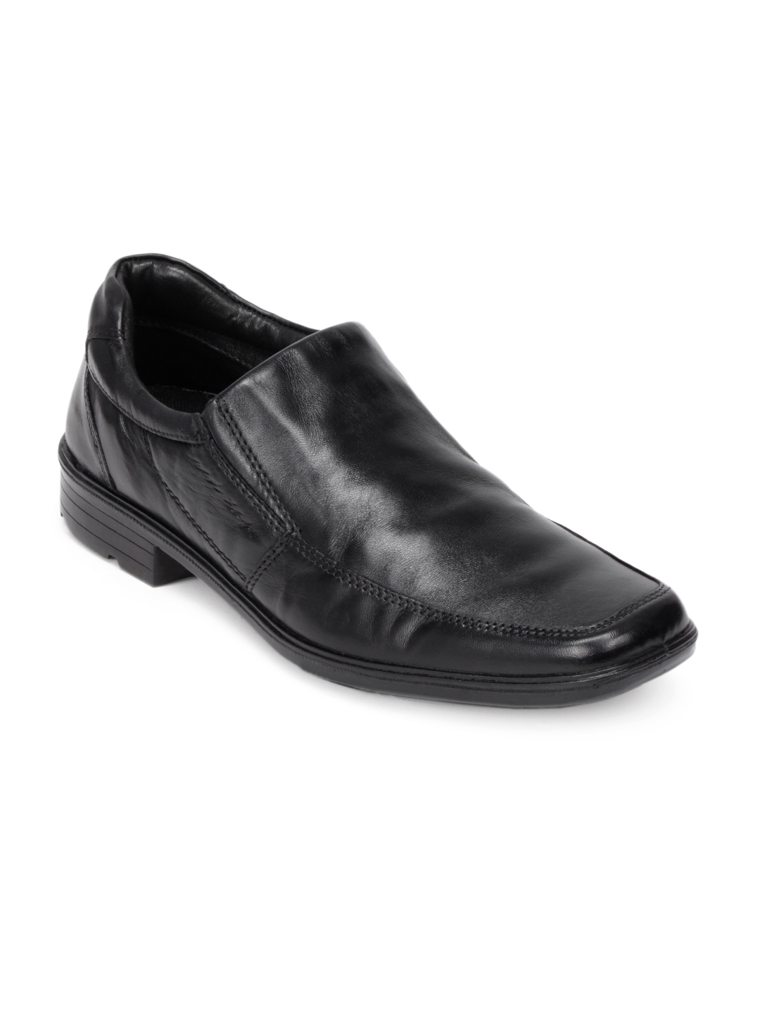 Red Tape Men Black Semi Formal Shoes
