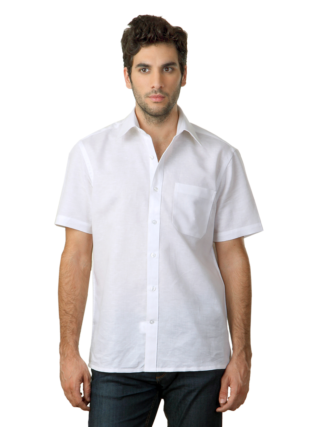 John Players Men White Shirt