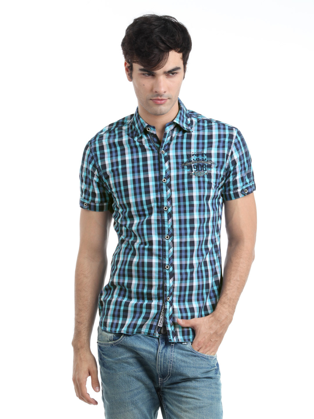 Locomotive Men Blue Shirt
