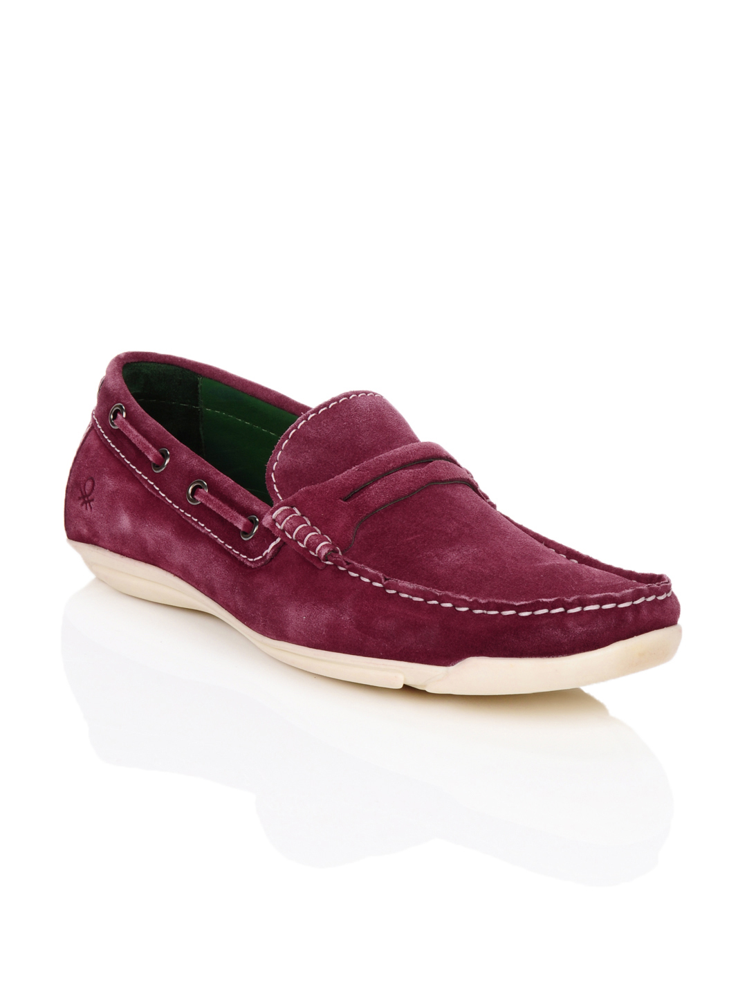 United Colors of Benetton Men Burgundy Shoes