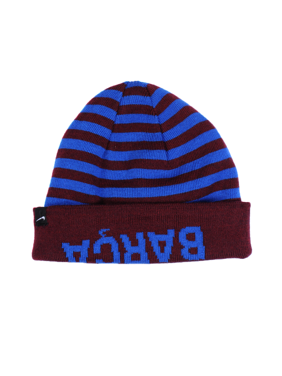 Nike Unisex Blue & Brown Striped Cap