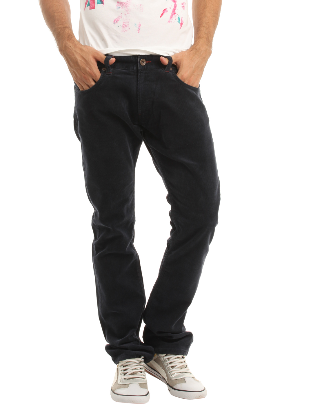 French Connection Men Navy Blue Trousers