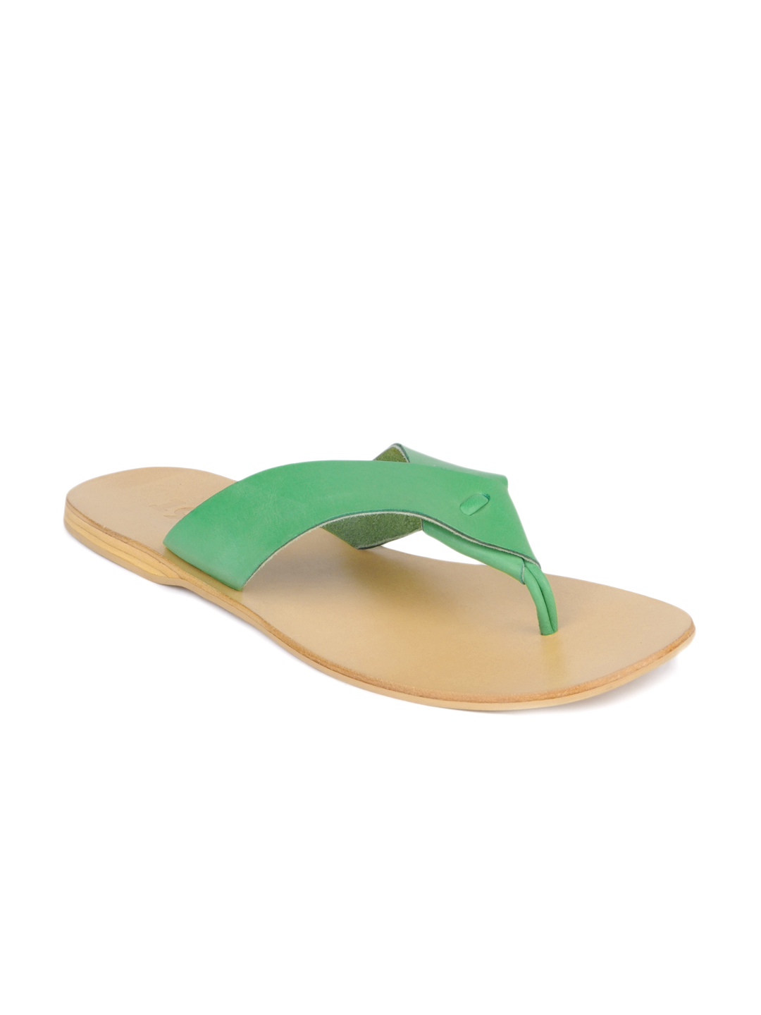 Estd. 1977 Men Beige & Green Sandals