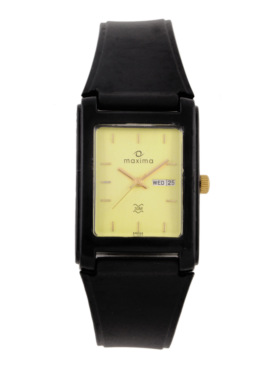 Maxima Men Gold Dial Watch